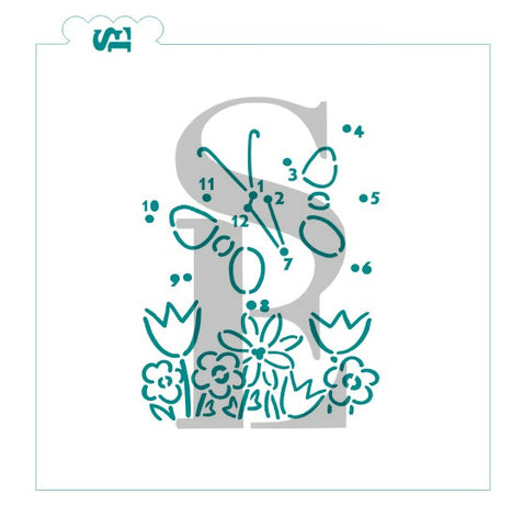 Butterfly Connect The Dot PYO Digital Design cookie stencil