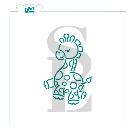 Giraffe Baby PYO Stencil AND Shaped TMP Cutter