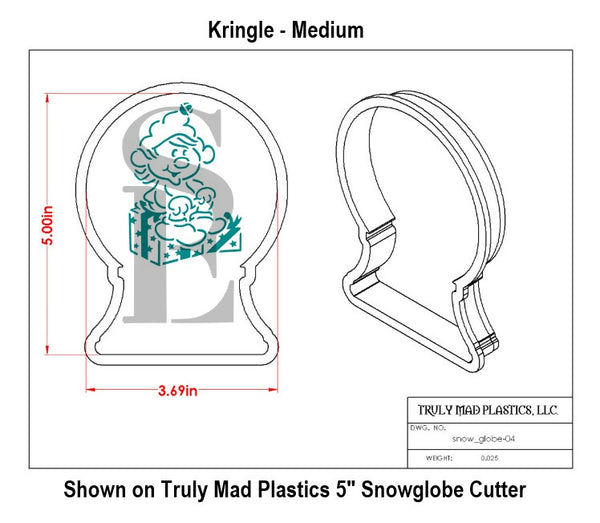 Kringle The Elf PYO Stencil for Cookies, Cakes & Culinary