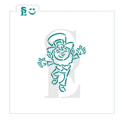 Drawn By Krista St. Patrick's Day Leprechaun PYO Exclusive Stencil for Cookies, Cakes & Culinary