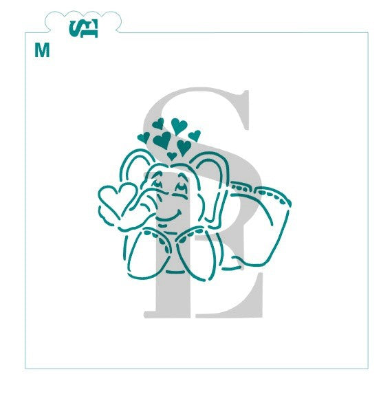 PYO Elephant Love Stencil Bundle for Cookies, Cakes & Culinary