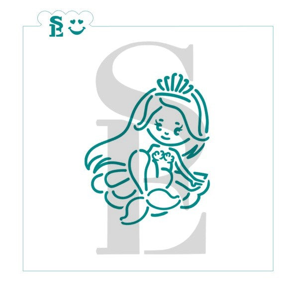 Mermaid #2 PYO Stencil for Cookies, Cakes & Culinary