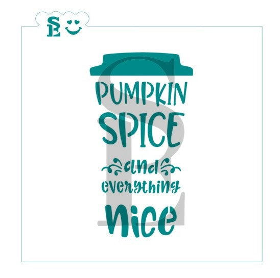 Pumpkin Spice and Everything Nice Stencil for Cookies, Cakes & Culinary