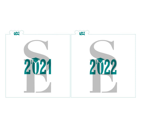 2021 and 2022 Cap Stencil for Cookies, Cakes & Culinary