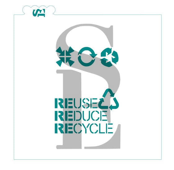 Earth Day - Reuse Reduce Recycle Digital Design