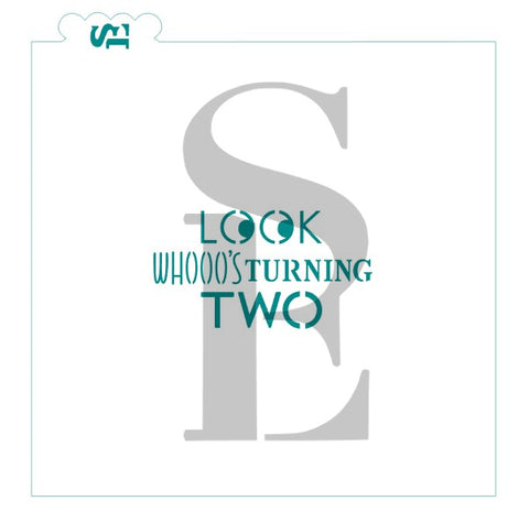 Look Whooo's Turning Two Sentiment Digital Design