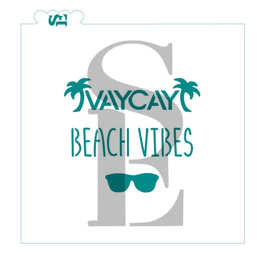 Vacay, Beach Waves, Sunglasses Digital Design