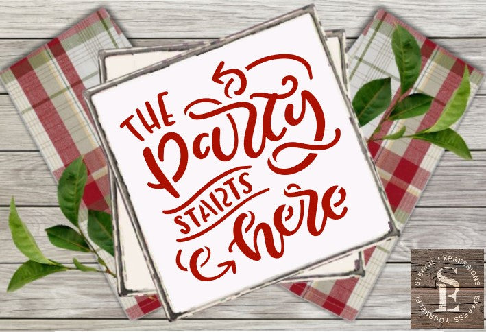The Party Starts Here Sentiment Digital Design
