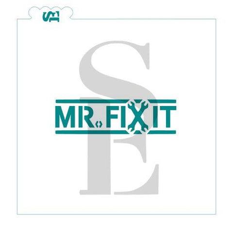 Mr. Fix-It Stencil for Cookies, Cakes & Culinary