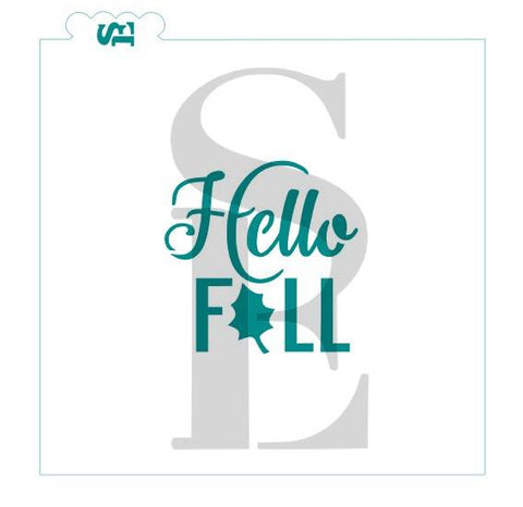 Hello Fall #2 Stencil for Cookies, Cakes & Culinary