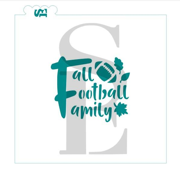 Fall Football Family, Single and Layered Design Cookie Stencil