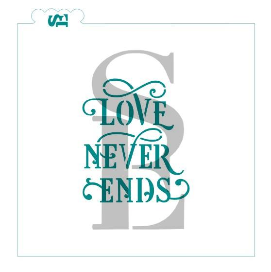Love Never Ends Stencil for Cookies, Cakes & Culinary