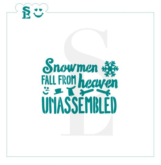 Snowmen Fall From Heaven Unassembled Stencil for Cookies, Cakes & Culinary
