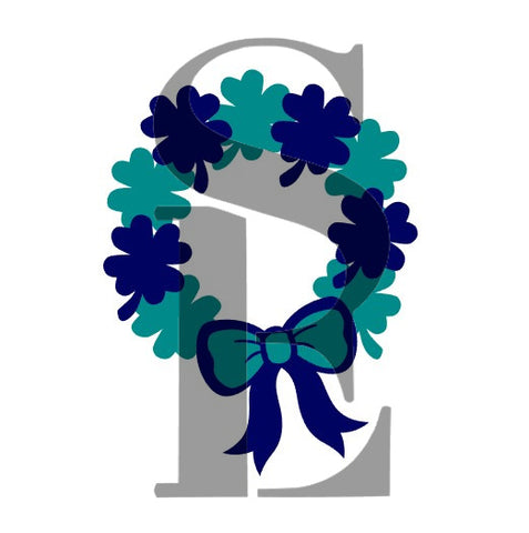 Shamrock Wreath All-On-One or Layered Set Stencil for Cookies, Cakes & Culinary St. Patrick's Day *Digital Download
