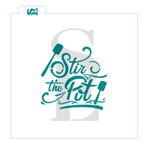 Stir The Pot Baker Stencil for Cookies, Cakes & Culinary