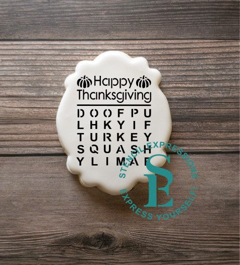 Thankgiving / Happy Thanksgiving Word Search Digital Design
