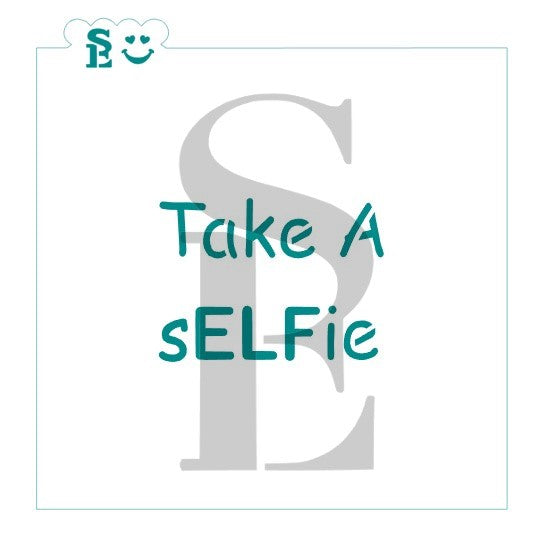 Take a sELFie Stencil for Cookies, Cakes & Culinary