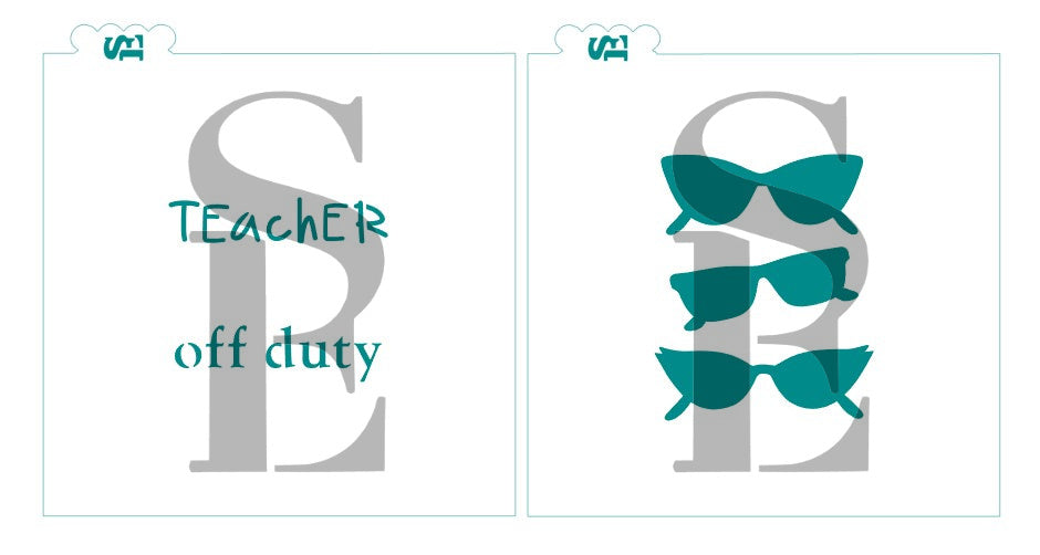 Teacher Off Duty with Sunglasses Bundle Digital Design Cookie stencil