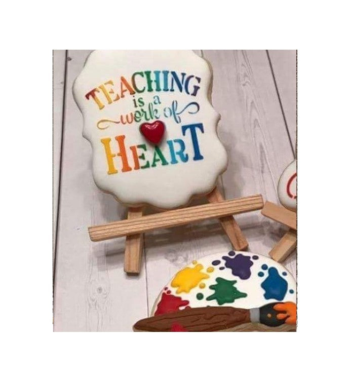 Teaching Is A Work Of Heart Digital Design Patsy's COokies