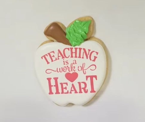 Teaching Is A Work Of Heart Digital Design Flour Box Bakery