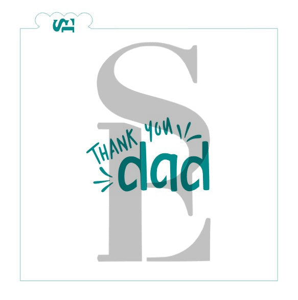 Thank You Dad Sentiment Digital Design