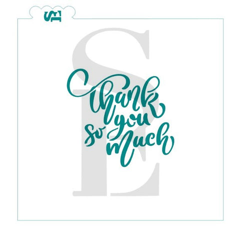 Thank You So Much Hand Lettered Sentiment Digital Design