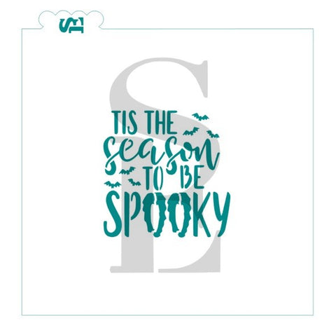 Tis The Season To Be Spooky Stencil for Cookies, Cakes & Culinary
