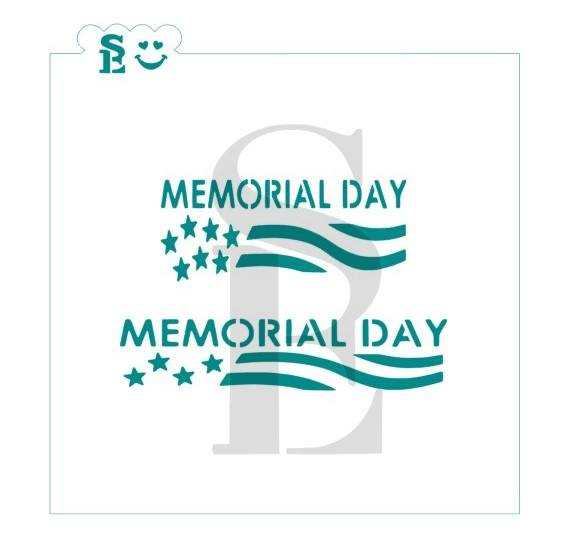 Memorial Day Stencil for Cookies, Cakes & Culinary