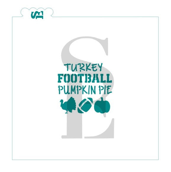 Turkey Football Pumpkin Pie Digital Design