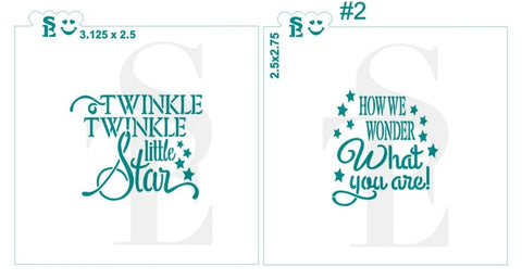 Sentiments and greetings designs from stencil expressions tagged twinkle twinkle little star 2 how we wonder what you are bundle m4hsunfo