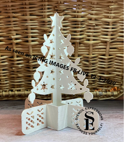 Laurie Collins / Icing Images LIVE Edible Cake Tree Topper Cut Pattern Digital Download