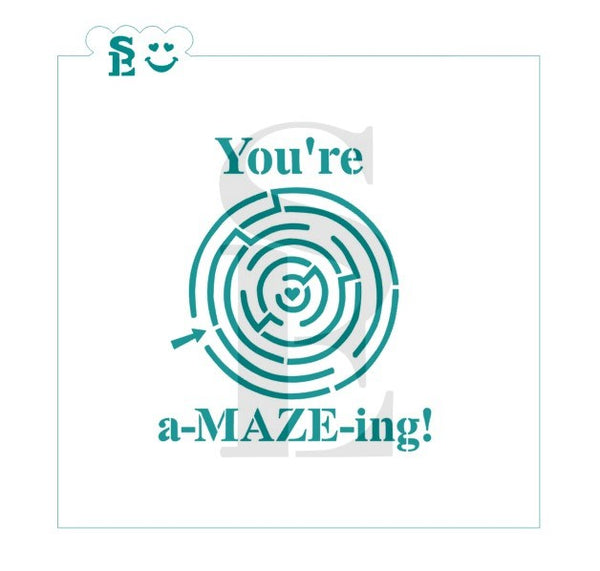 Valentine's You're a-MAZE-ing! One & Two-Step Stencil for Cookies, Cakes & Culinary