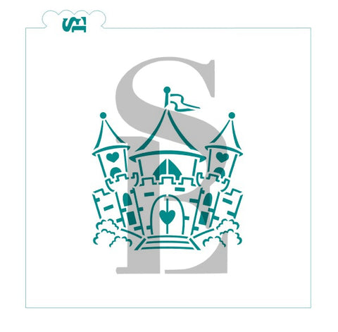 Fairy Tale Castle Stencil for Cookies, Cakes, Culinary
