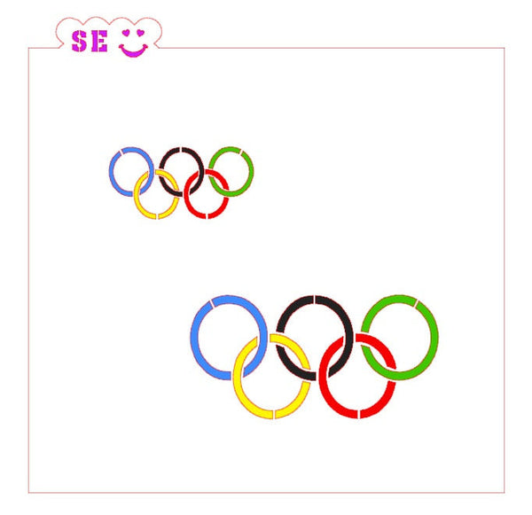 Olympic Rings, Sports Figures Stencil Bundle for Cookies, Cakes & Culinary
