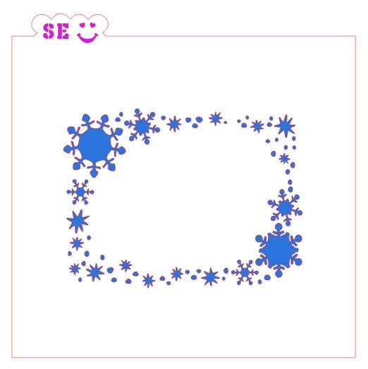 Snowflake Frame Stencil for Cookies, Cakes & Culinary