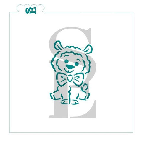 Cutest Llama Ever, Boy PYO Exclusice Stencil for Cookies, Cakes & Culinary