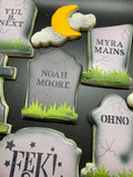 Tombstones Background, Tombstone Quirky Names #1 & #2, and Tombstone Templates Bundle Digital Design