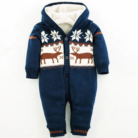 Super Warm Christmas Deer Baby Rompers - FREE SHIPPING