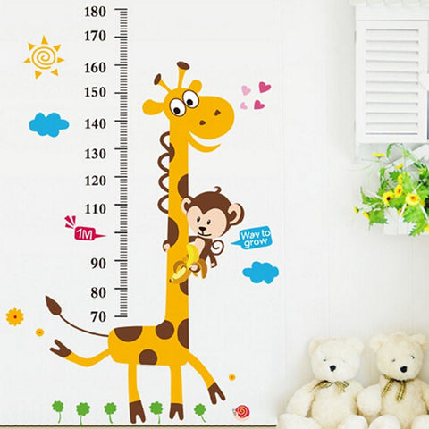 Colorful Cartoon Kids Height Ruler Sticker - FREE SHIPPING