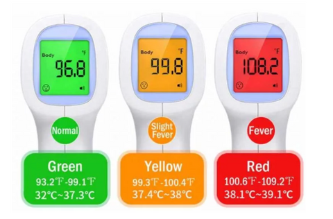 Non contact infrared forehead thermometers