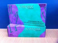 Examination Gloves Low Powder Latex -SuperMax-InterAktiv Health