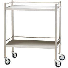 Stainless Steel Dressing Trolley 80cm Wide -No Draws-InterAktiv Health