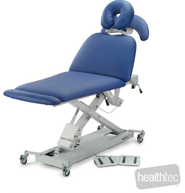 Ultimate Contour Massage Table, electric height, electric back rest and mid lift section by Healthtec
