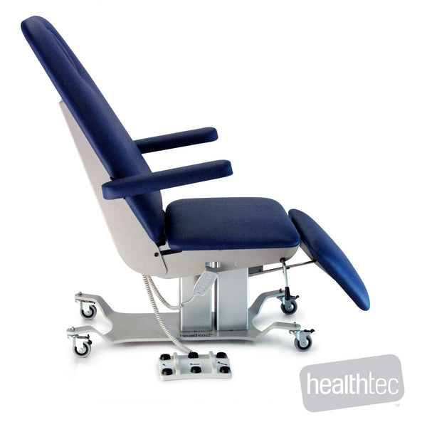The Healthtec Evolution Procedure Chair is perfect for use in Minor Procedures, Biopsy, Multi-Disciplinary rooms, Blood Donation,Intensive care Dialysis,Day Oncology,Day Infusion,Pathology,Day Surgery,Emergency, Medi-Spa, Podiatry