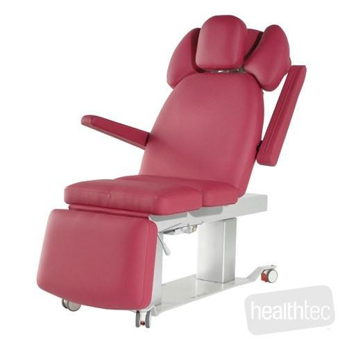 Healthtec EVO2 Spa and beauty therapy tables with electrically operated height adjustment and back rest with electric seat tilt