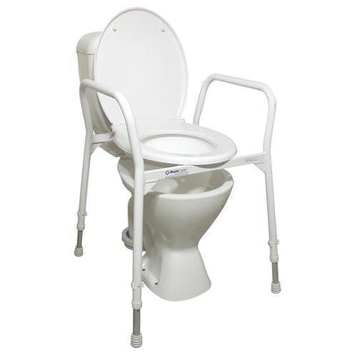 ALUMINIUM OVER TOILET FRAME WITH SEAT AND LID AT INTERAKTIV HEALTH