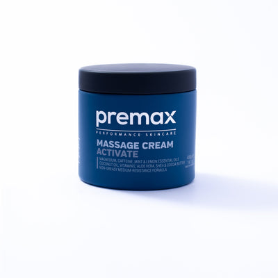 Premax Active is a next-generation massage cream combining a unique blend of modern ingredients that help athletes prepare for sport and exercise. With an addictive mint and lemon scent, and a premium non-greasy texture, this is the ultimate pre-event massage cream.
