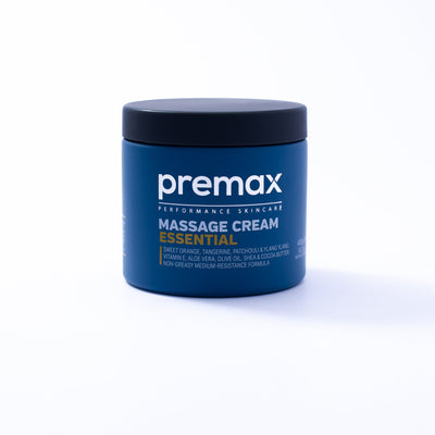 Premax Essential is a medium resistance massage cream that leaves athletes and clients with fresh, hydrated, nourished and clean skin. Packed full of premium ingredients and an uplifting natural citrus scent, Premax Essential is a unique massage cream with an ideal balance of traction and glide.