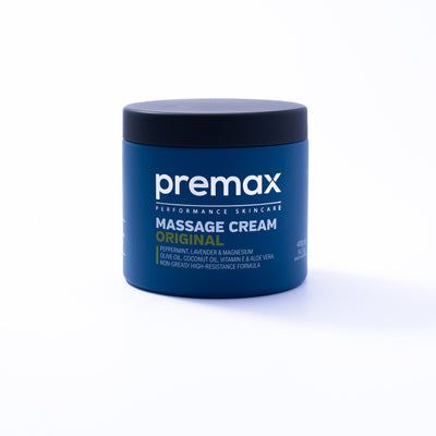 Premax Original is a premium massage cream loaded with skin nourishing ingredients and formulated to give therapists maximum tactility, resistance, control and longevity. With a fresh scent and non-greasy texture, athletes and clients love this product as much as therapists.