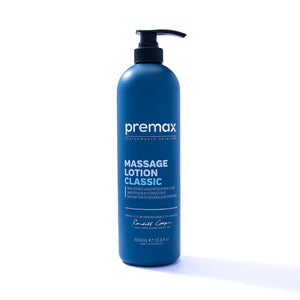 A best seller, Premax Massage Lotion is an unscented, high-glide, hygienic and skin conditioning massage lotion that provides optimal tactility and control for therapists, and a clean and conditioned finish on the skin for athletes and clients.